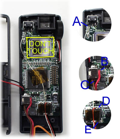 Wiring Locations. Click wire area for larger photo.