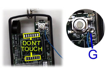 Mode Switch wire. Click for larger photo.