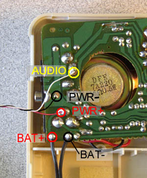 Wires for the amp are shown here.