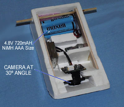 Battery and Camera Mounting -- Click for larger photo