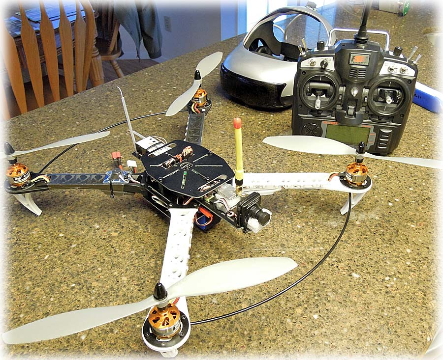 Video equipped model airplane