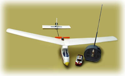 Wow, a $35 model airplane! The airborne electronics are from the little car.