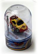 "The cars are often sold in a ""Snow Globe"" container."